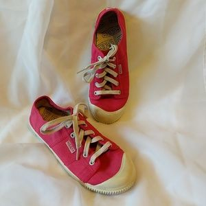 Hot Pink Keen Canvas Lace Ups Size 8